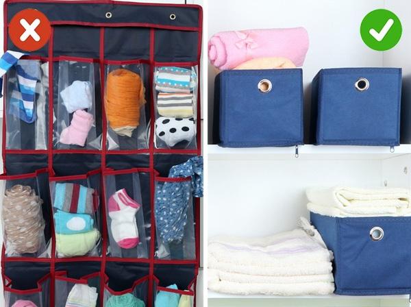 dọn dẹp nhà cửa sử dụng túi lưu trữ