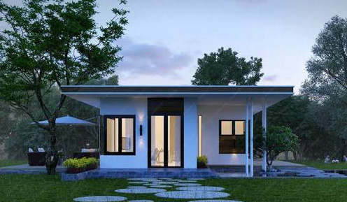 8 mẫu nhà cấp 4 mái bằng hiện đại và sang chảnh_view 1