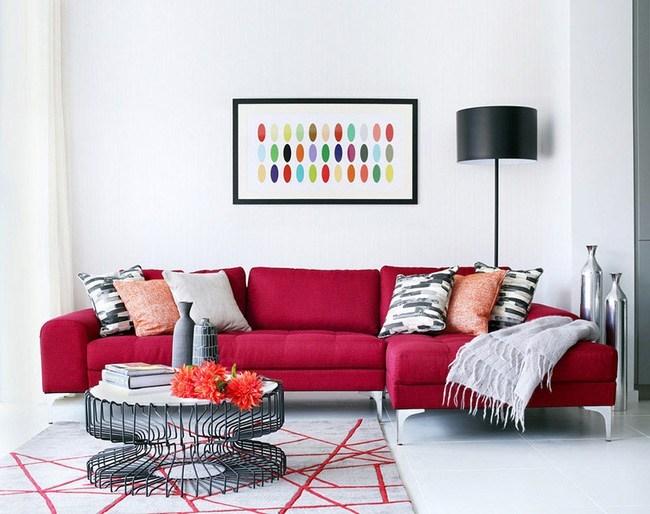 Bổ sung màu sắc cho không gian phòng khách