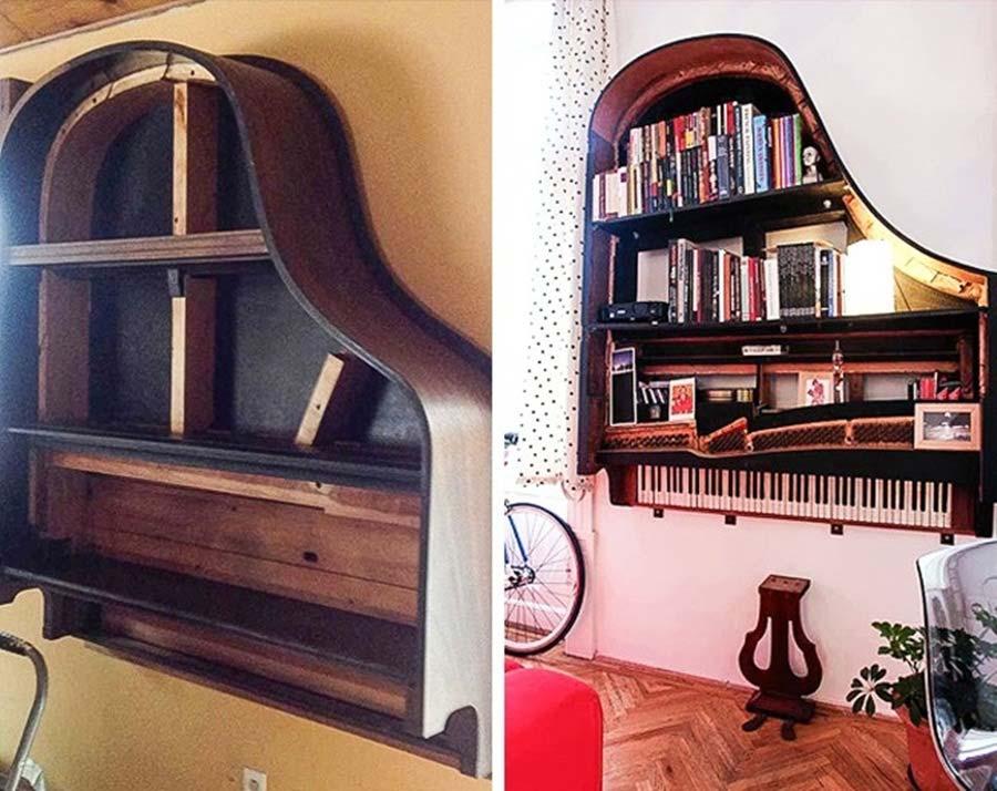 tái chế chiếc đàn piano cũ