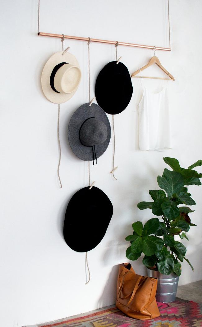 Giá treo mũ bằng dây thừng