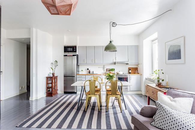 Thiết kế phòng bếp sử dụng màu xám không hề buồn chán