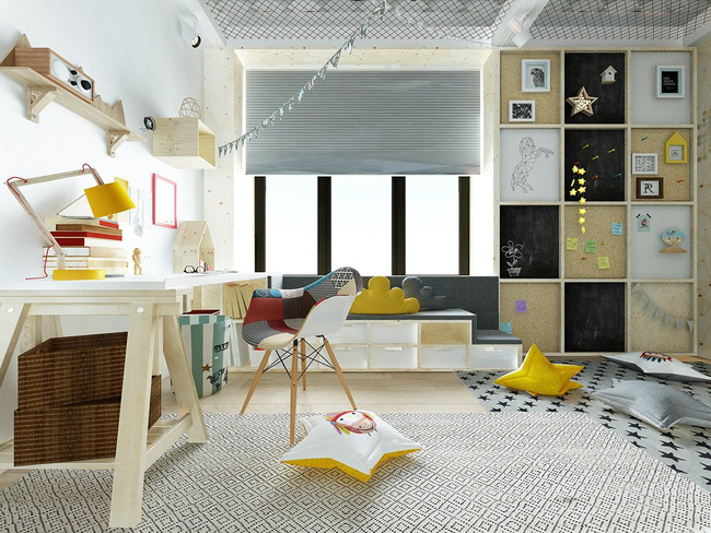 Mẫu phòng trẻ em đẹp phong cách hiện đại