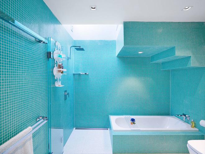mẫu phòng tắm này vẫn tạo ra được hiệu ứng thị giác tuyệt vời.