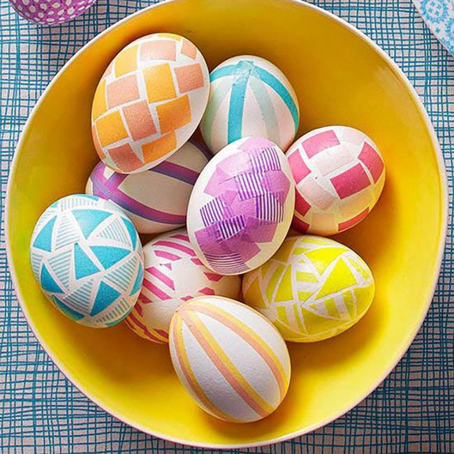 trang trí vỏ trứng