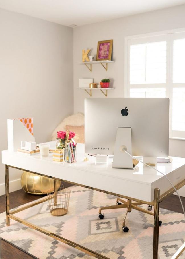 cách thiết kế phòng làm việc ngọt ngào lãng mạn 3