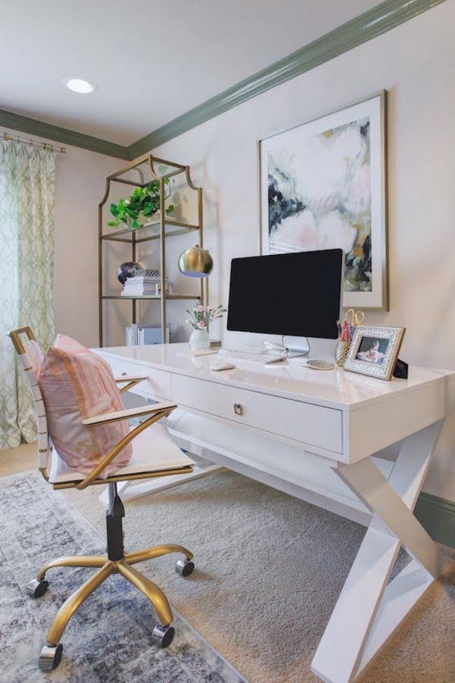 cách thiết kế phòng làm việc ngọt ngào lãng mạn 9
