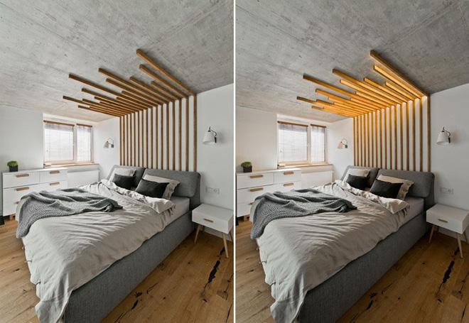 Phòng ngủ được nhấn nhá 9