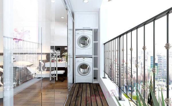 Ban công – vị trí lý tưởng để bố trí máy giặt cho nhà chật 1