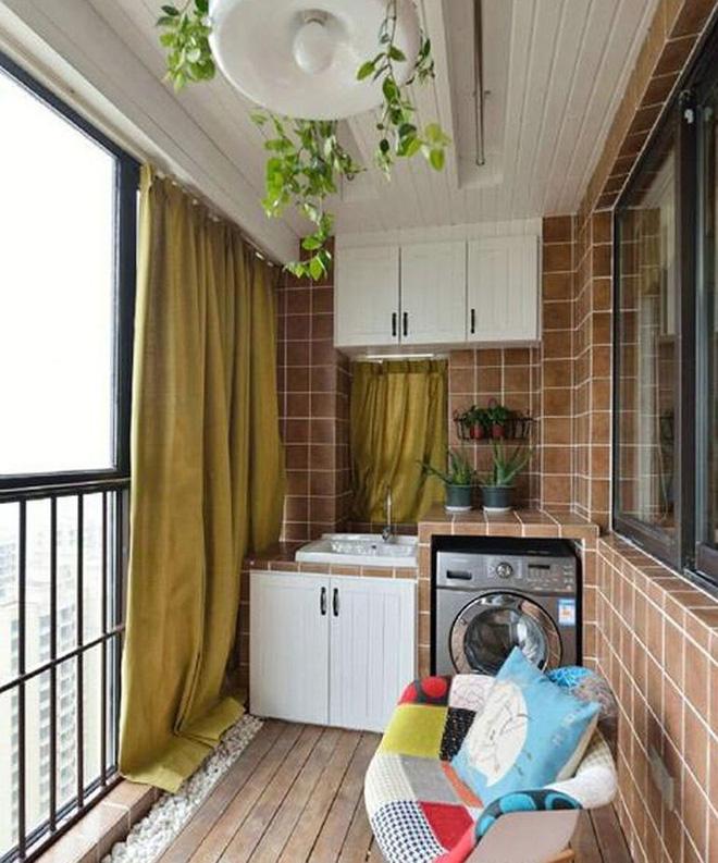 Ban công – vị trí lý tưởng để bố trí máy giặt cho nhà chật 5