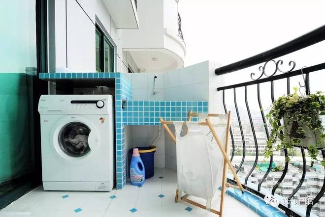 Ban công – vị trí lý tưởng để bố trí máy giặt cho nhà chật 7