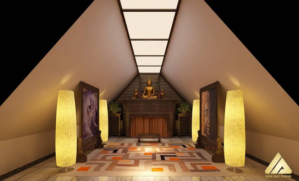 mẫu thiết kế phòng thờ đẹp và trang trọng 12