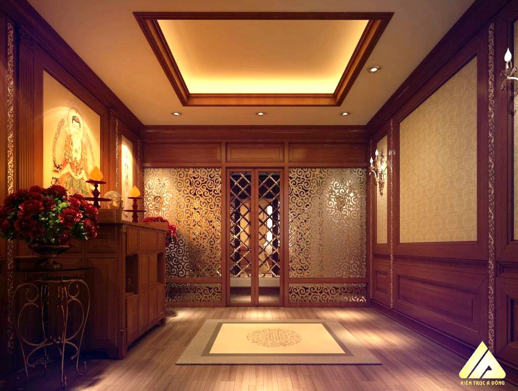 mẫu thiết kế phòng thờ đẹp và trang trọng 13