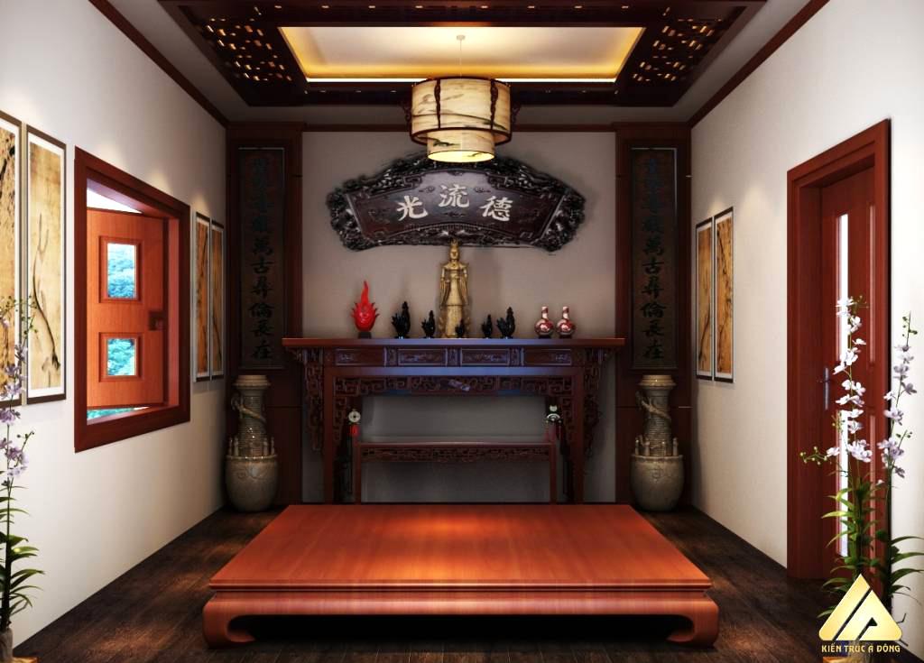 mẫu thiết kế phòng thờ đẹp và trang trọng 16