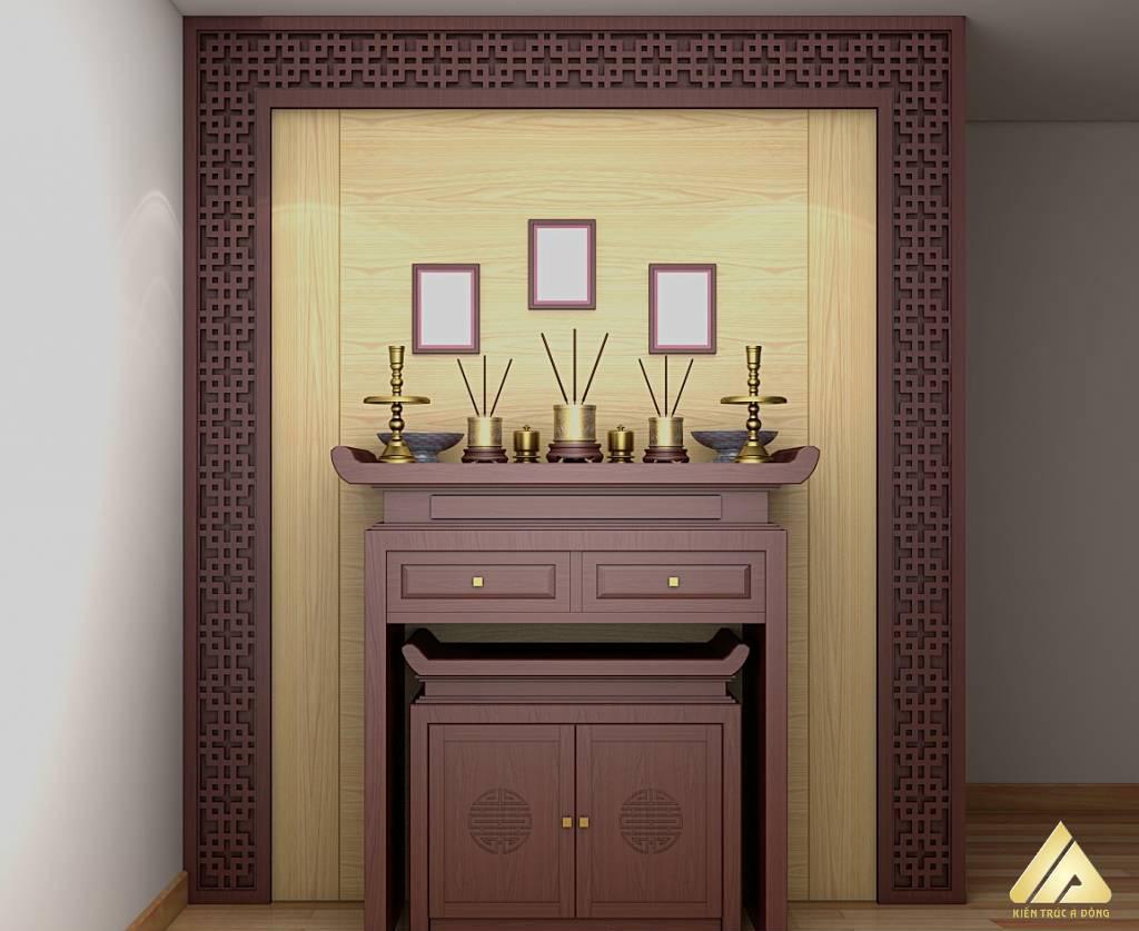 mẫu thiết kế phòng thờ đẹp và trang trọng 5