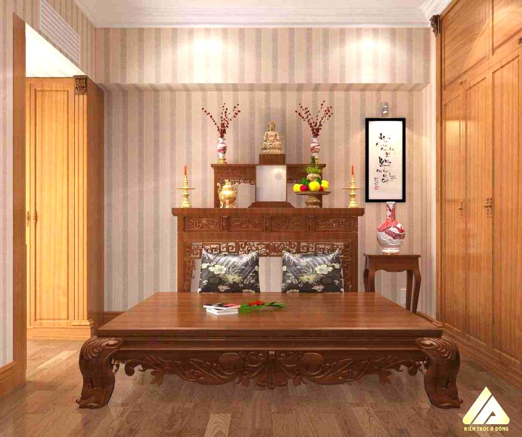 mẫu thiết kế phòng thờ đẹp và trang trọng 6