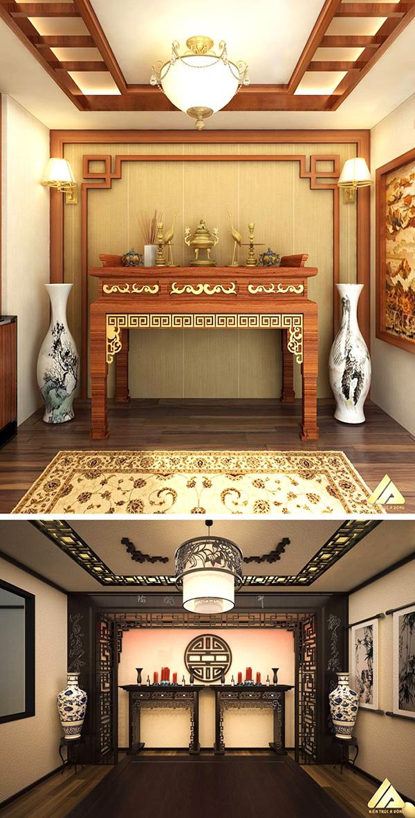 mẫu thiết kế phòng thờ đẹp và trang trọng-nhadepso