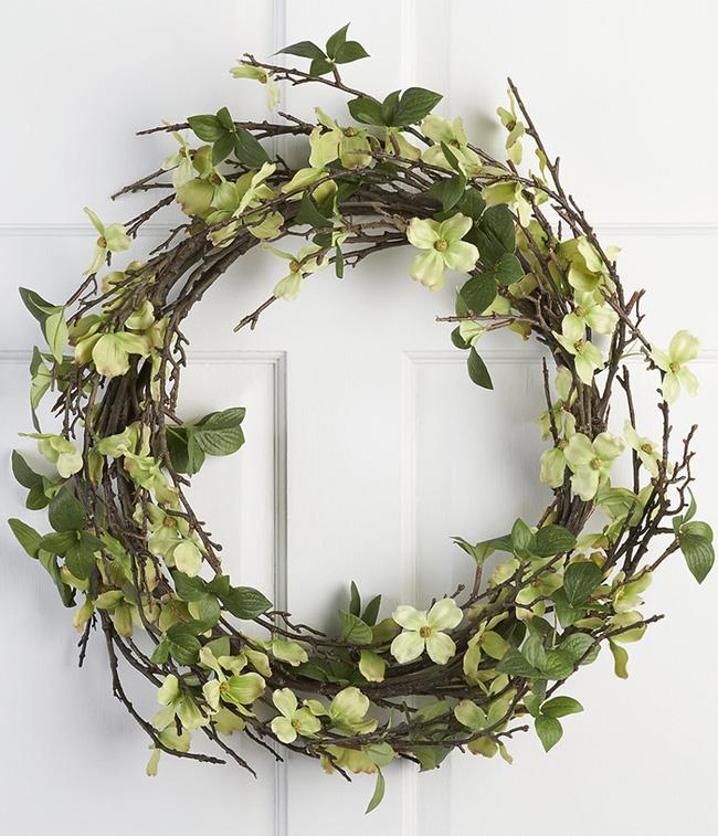 Nhà đẹp hút hồn với cách trang trí cửa ra vào bằng vòng hoa 3