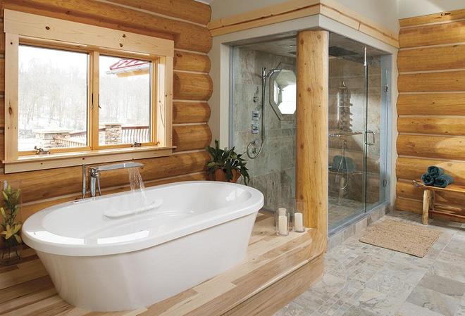 Những mẫu phòng tắm gỗ khiến bạn xao xuyến ngay khi đặt chân vào12