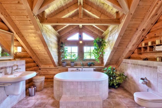 Những mẫu phòng tắm gỗ khiến bạn xao xuyến ngay khi đặt chân vào3