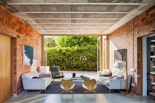 Mẫu phòng khách đẹp đến khó tả nhờ vào thiết kế tường gạch1