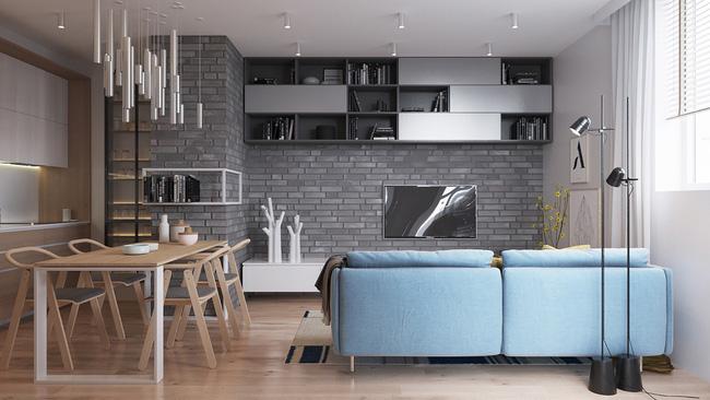 Mẫu phòng khách đẹp đến khó tả nhờ vào thiết kế tường gạch11
