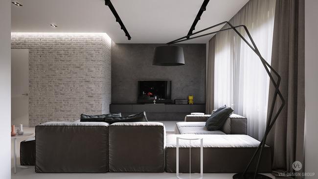 Mẫu phòng khách đẹp đến khó tả nhờ vào thiết kế tường gạch14