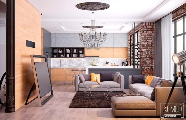 Mẫu phòng khách đẹp đến khó tả nhờ vào thiết kế tường gạch15