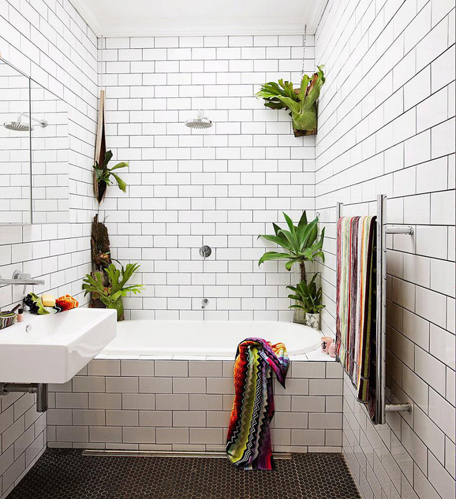 Phòng tắm đẹp hơn bao giờ hết với ý tưởng mang thảm thực vật 7