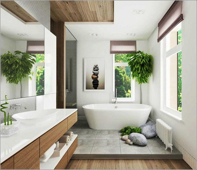 Phòng tắm đẹp hơn bao giờ hết với ý tưởng mang thảm thực vật 8