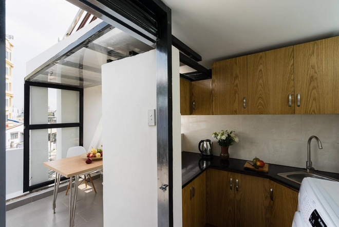 Although only 27 m2 but beautiful house and corner in Go Vap kitchen