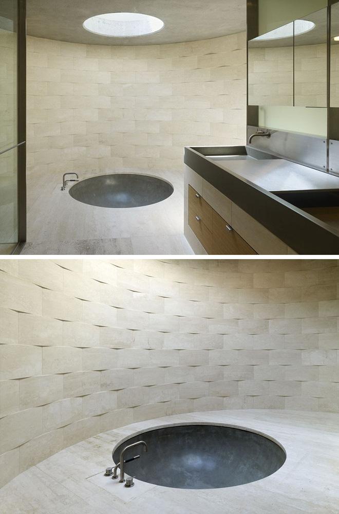 Sang chảnh vô cùng những không gian phòng tắm ốp gạch 3D_Ảnh 10