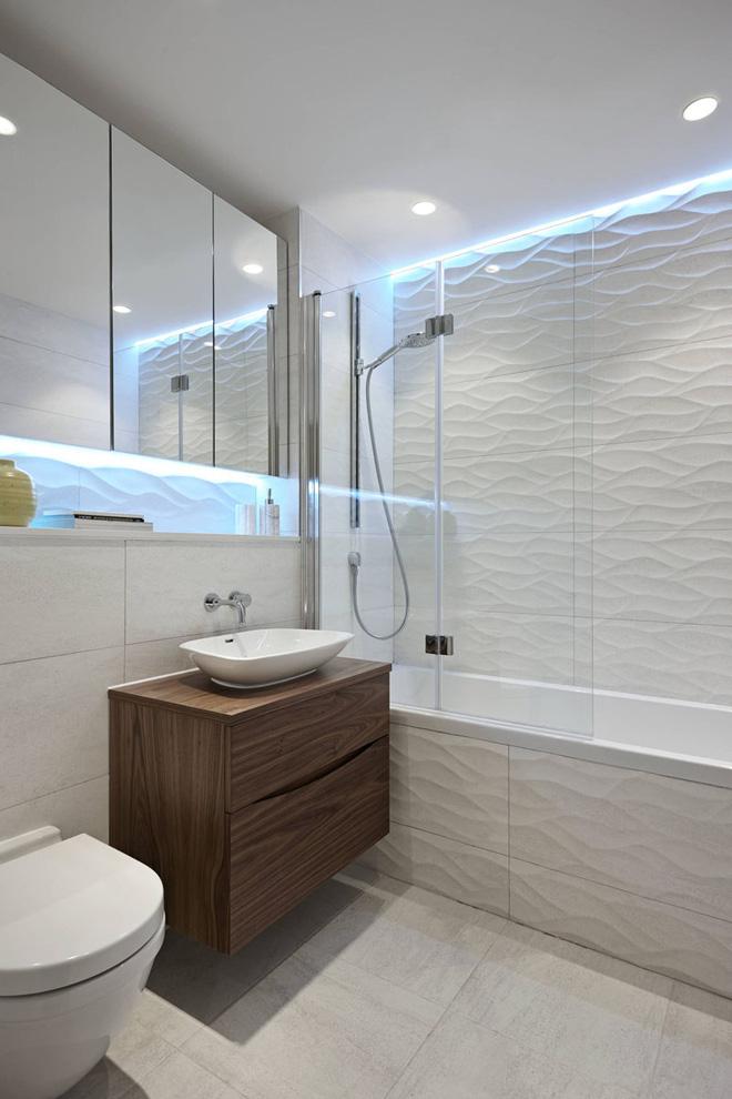 Sang chảnh vô cùng những không gian phòng tắm ốp gạch 3D_Ảnh 12