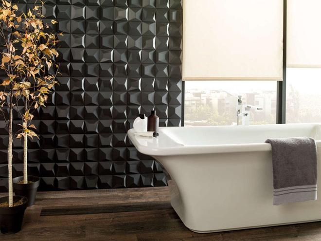 Sang chảnh vô cùng những không gian phòng tắm ốp gạch 3D_Ảnh 13