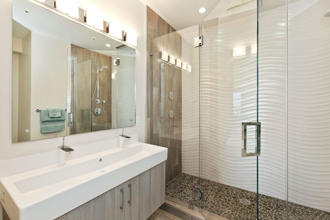 Sang chảnh vô cùng những không gian phòng tắm ốp gạch 3D_Ảnh 14