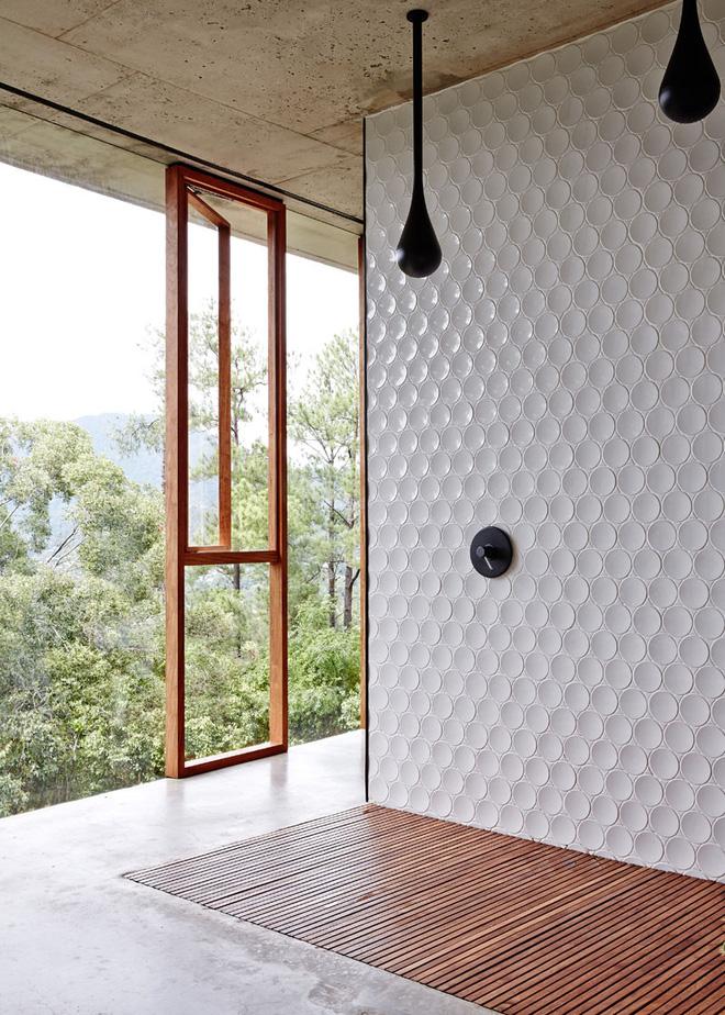 Sang chảnh vô cùng những không gian phòng tắm ốp gạch 3D_Ảnh 2