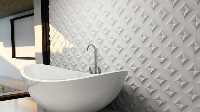 Sang chảnh vô cùng những không gian phòng tắm ốp gạch 3D_Ảnh 3