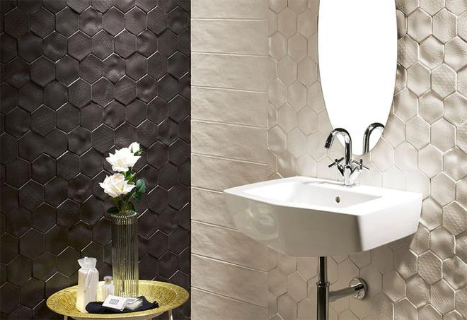Sang chảnh vô cùng những không gian phòng tắm ốp gạch 3D_Ảnh 4
