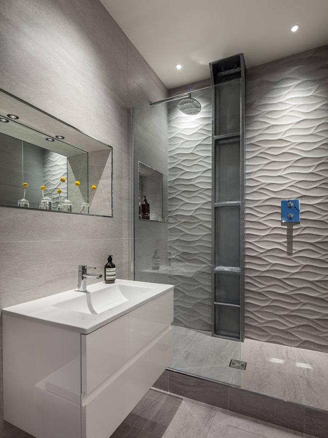Sang chảnh vô cùng những không gian phòng tắm ốp gạch 3D_Ảnh 5