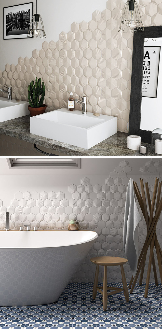 Sang chảnh vô cùng những không gian phòng tắm ốp gạch 3D_Ảnh 6_Nhadepso