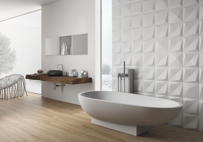 Sang chảnh vô cùng những không gian phòng tắm ốp gạch 3D_Ảnh 7