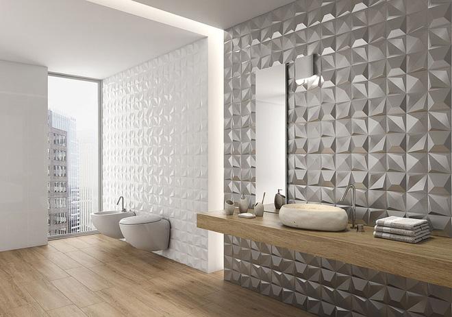 Sang chảnh vô cùng những không gian phòng tắm ốp gạch 3D_Ảnh 8