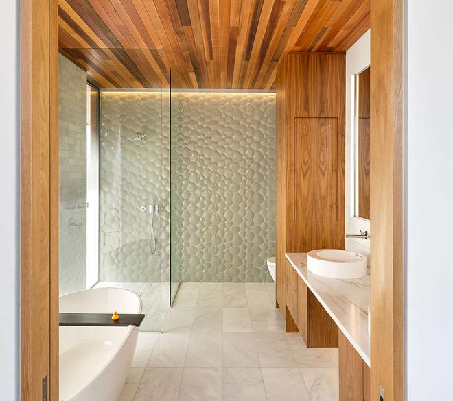 Sang chảnh vô cùng những không gian phòng tắm ốp gạch 3D_Ảnh 9