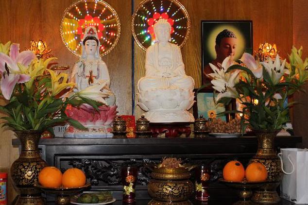 Thiết kế bàn thờ phật cách lập và bố trí bàn thờ Phật hợp phong thủy
