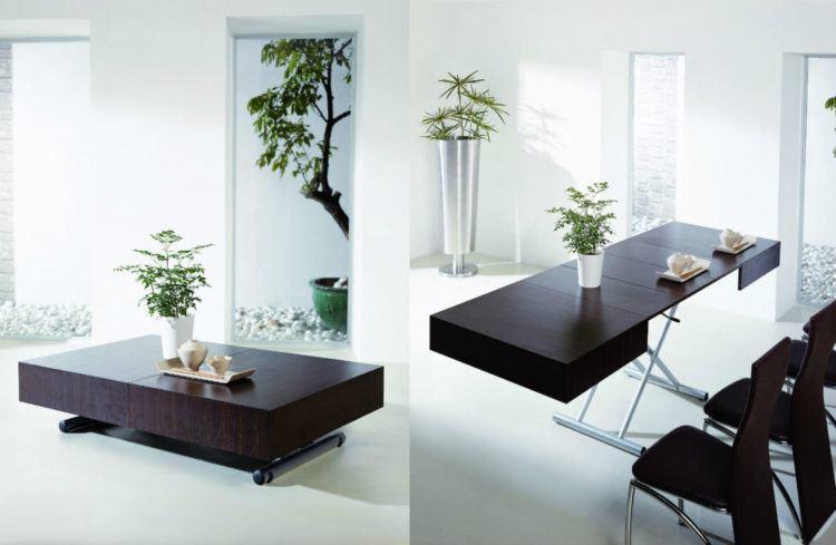 Kệ sách kết hợp cùng bàn ăn và bàn làm việc thông minh