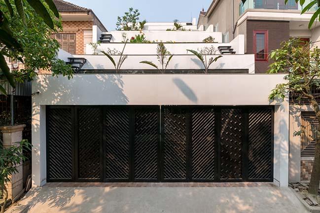 Mẫu nhà phố đẹp 4 tầng với thiết kế ruộng bậc thang ở Hà Tĩnh (1)