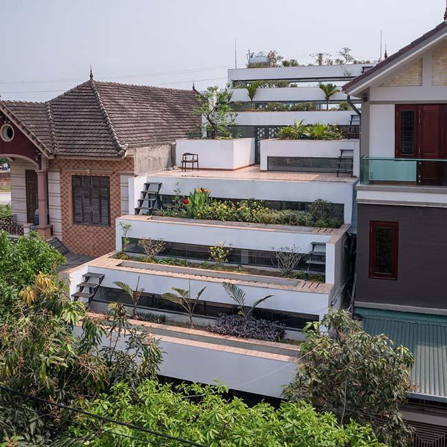 Mẫu nhà phố đẹp 4 tầng với thiết kế ruộng bậc thang ở Hà Tĩnh- NHà Đẹp Số