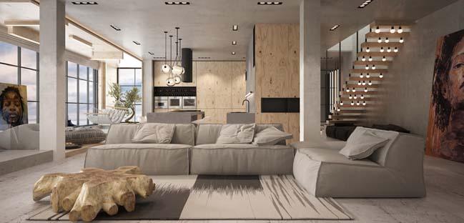 căn hộ penthouse 2 tầng - Nhà Đẹp Số