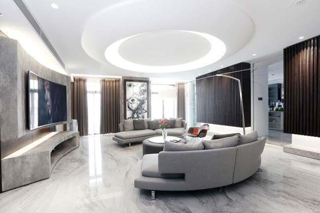 Nội thất căn hộ chung cư 256 m2 tại Hà Nội (1)