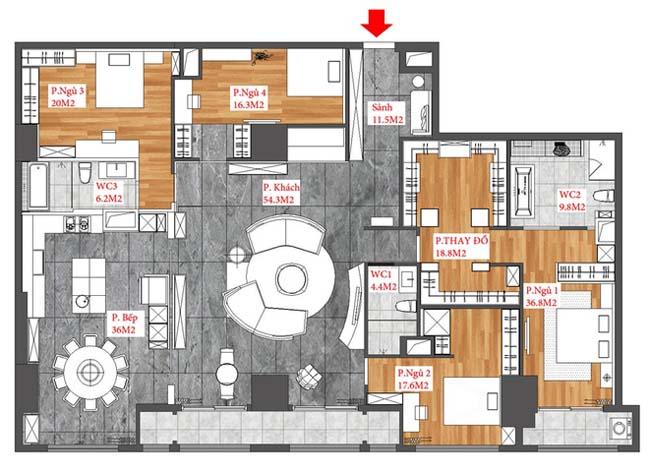 Apartment for rent in Hanoi (12)